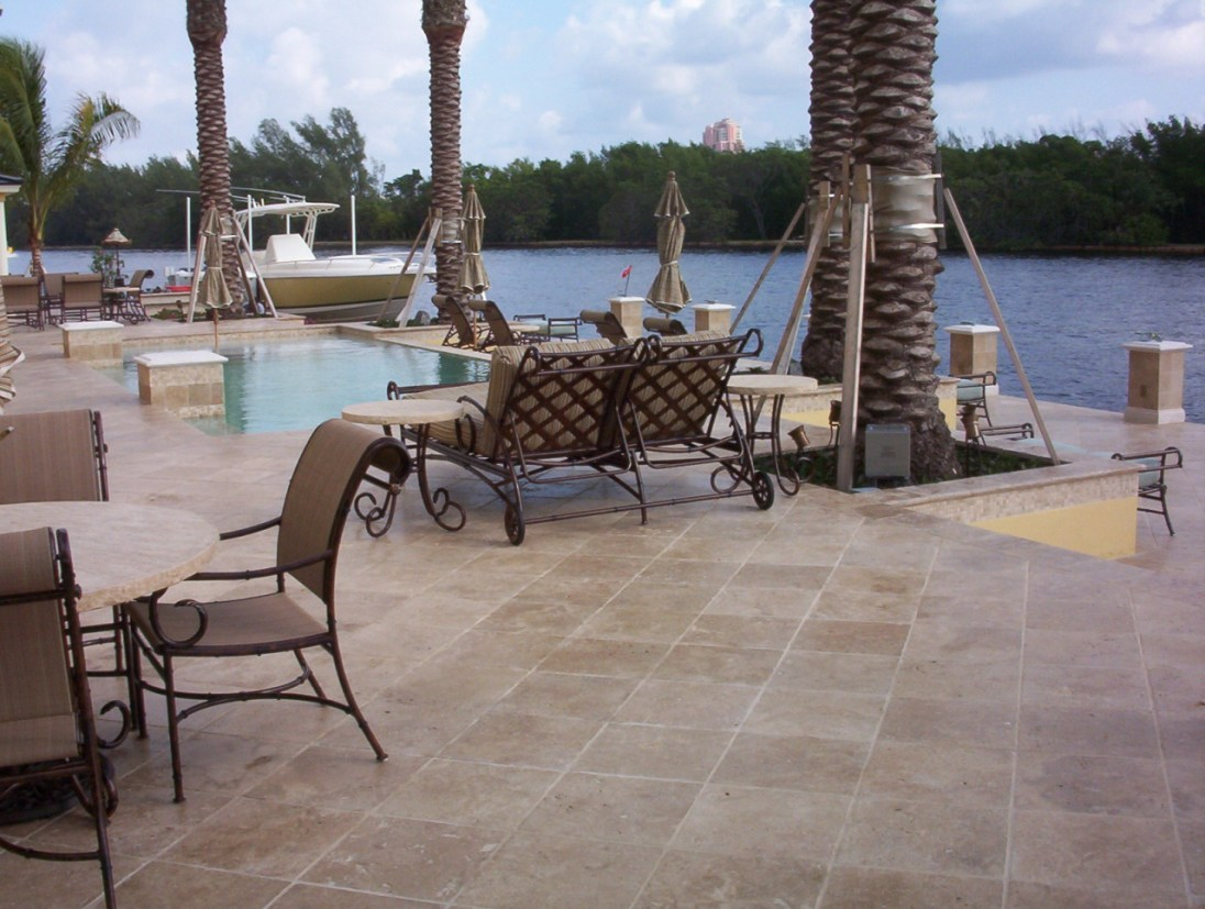 Noce travertine pavers outdoor stone Los Gatos