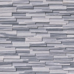 Alaska Gray 3D honed stacked stone ledger
