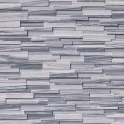 Alaska Gray 3D honed stacked stone ledger