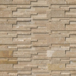 Durango Cream 3D Honed Travertine Stacked Ledger Stone