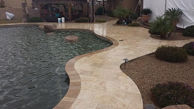 Tuscany Beige Travertine Pavers for patio natural stone Los Gatos California