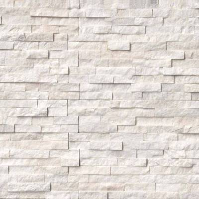 Arctic White Stacked Stone Panels