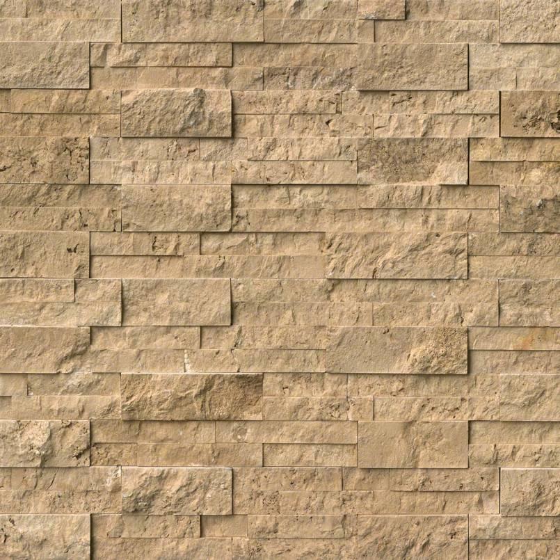 Noche Travertine Stacked Stone Panels