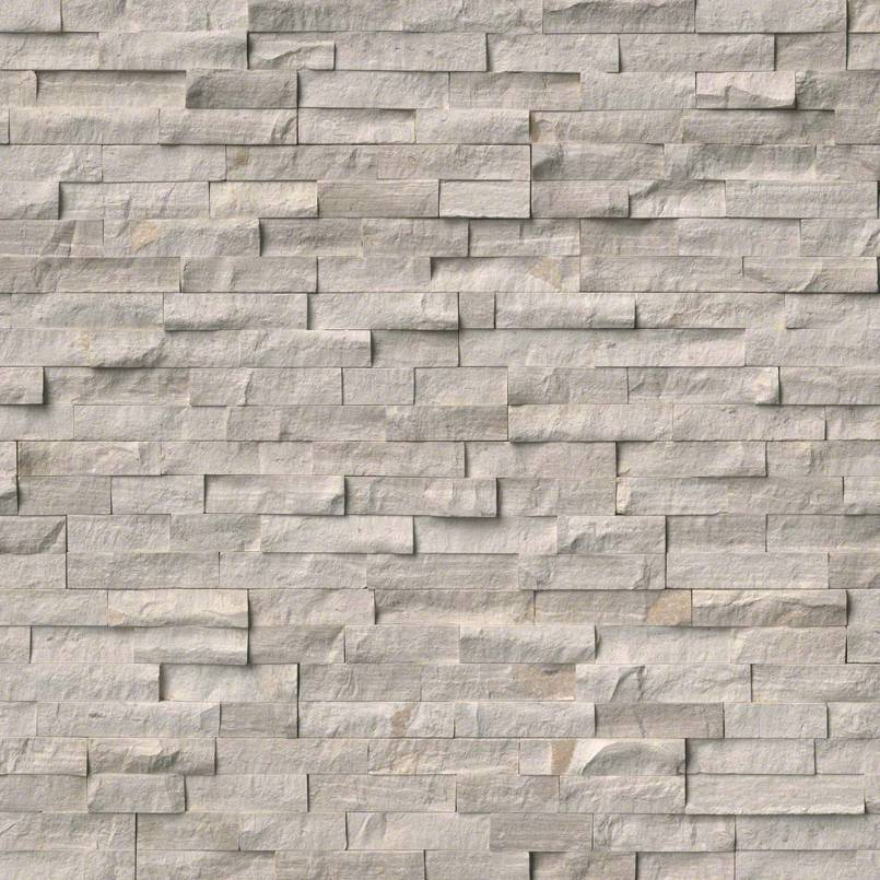 White Oak Splitface Stacked Stone Panels