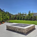 MSI Silver Travertine Stacked Stone panels for outdoor fire pit Woodside