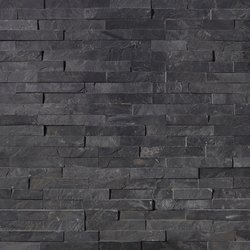 Premium Black Slate Stacked Stone Panel