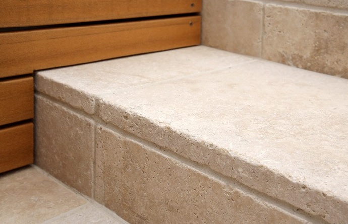 16x16 Ivory Travertine Pavers