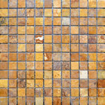 1x1 Gold Tumbled Travertine Mosaic