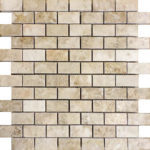 """1""""x2"""" Cappuccino Marble Mosaic"""