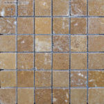"2""x2"" Noce Travertine Mosaic"
