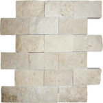 "2""x4"" Ivory Split Face Travertine Mosaic"