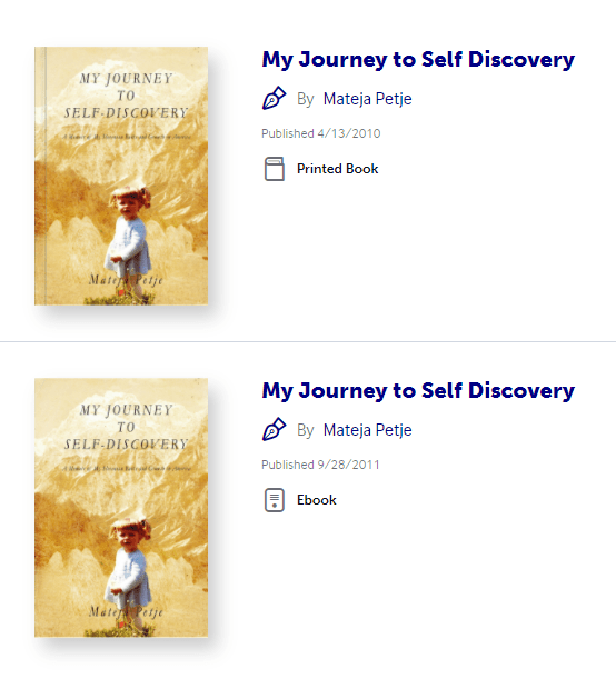 Mateja Petje Online Store Author My Journey to Self-Discovery Book writer