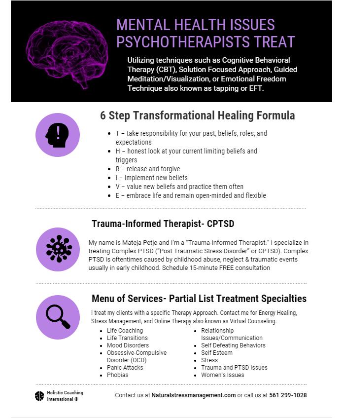 6 Step Transformational Healing Formula Holistic Psychotherapy Mateja Petje