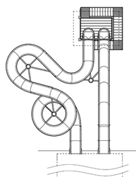 Natural Structures: Water Slides: Entry Height 18' to 19'