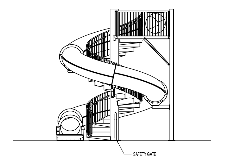 Natural Structures: Water Slides: Entry Height 14' to 15'