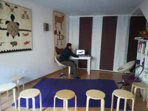 Preparando los audiovisuales