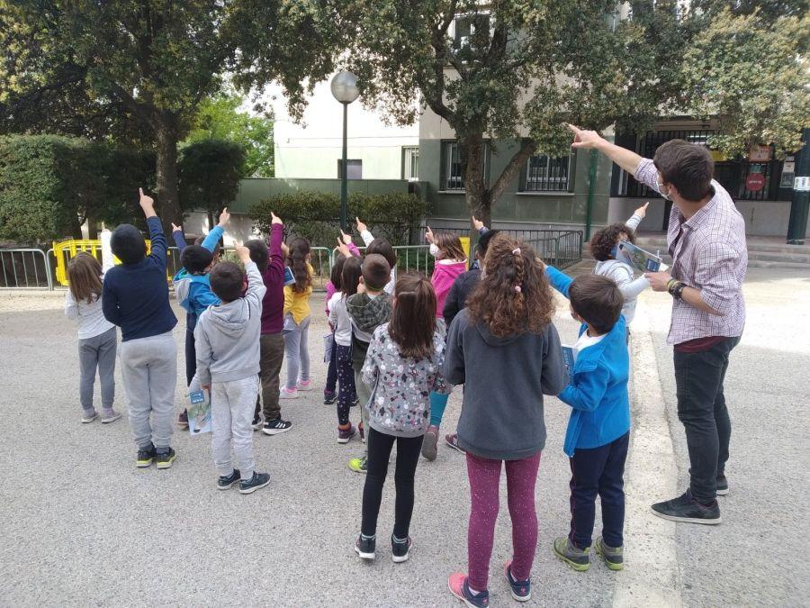Naturaludus realiza actividades complementarias y extraescolares en el CEIP Virgen de la Encina gracias al Ayuntamiento de Hoyo de Manzanares