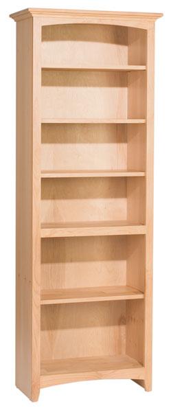 Alder McKenzie Bookcase Natural Unfinished Furniture
