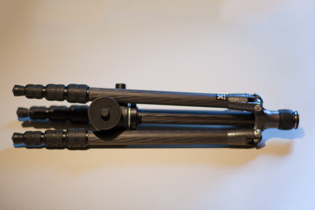 This image shows the GT1542T with the same Manfrotto 486 ball head as above, but the centre column is shorter. I got it as replacement for the lost original from Gitzo service.