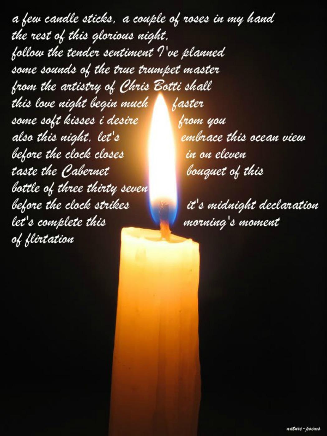 Candle Sticks Picturesque Poem
