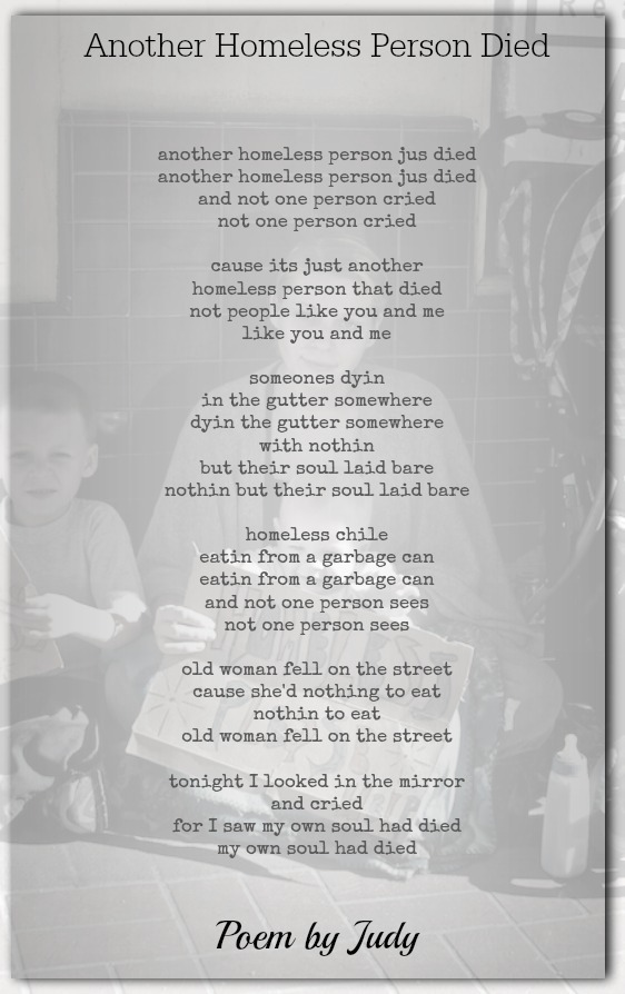 Another Homeless Person Died Life Poems