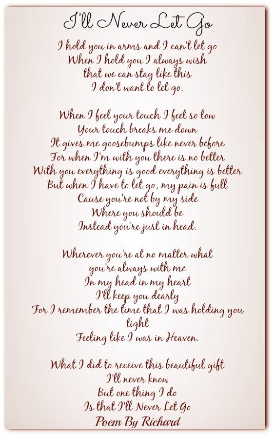 I Ll Never Let Go Love Poems