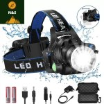 Lampe Frontale Rechargeable a LED 8000 Lumens - nature&survival -  -