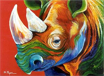 rhino painting art by