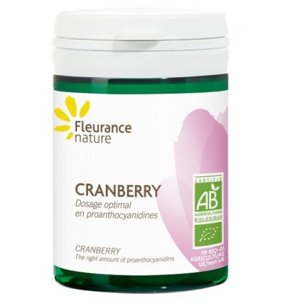 Organic Cranberry Health Supplement by Fleurance Nature