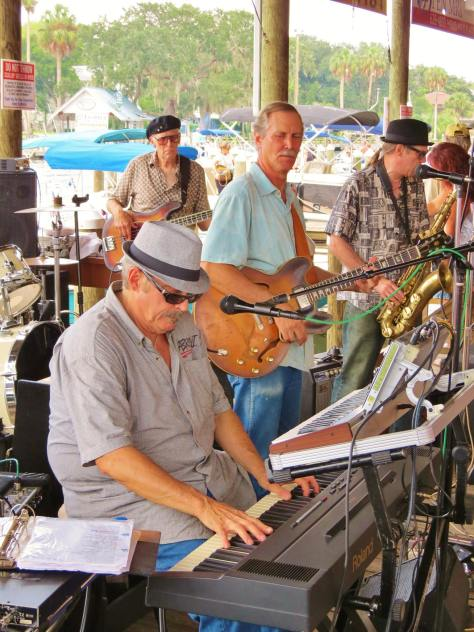 Sarasota Slim Band playing at The Shed on the Homosassa River.