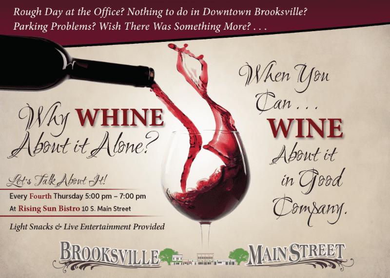 whine wine Brooksville Main Street