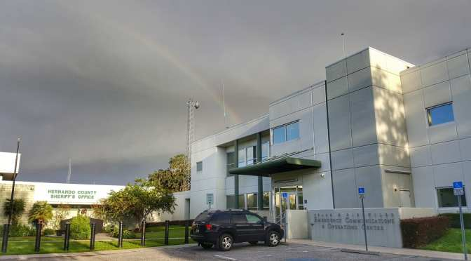 Rainbow over Hernando Emergency Operations