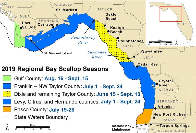 2019 Scallop season map