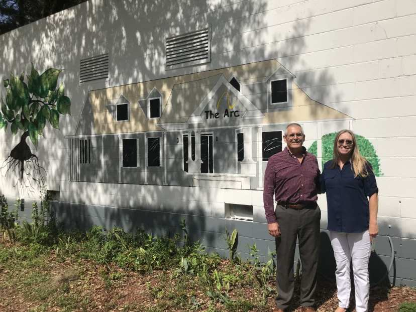 Mark Barry, Executive Director, and Nancy Stubbs, Development Director at The Arc of the Nature Coast's Neff Lake Campus.