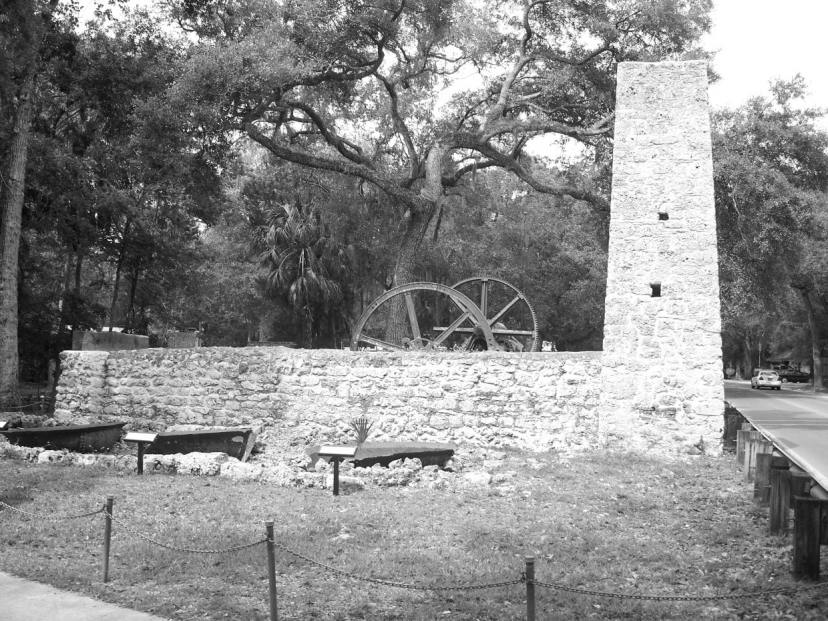 yulee sugar mill ruins bw