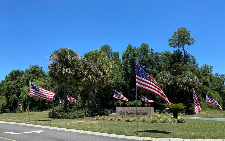 Florida national cemetery entrance