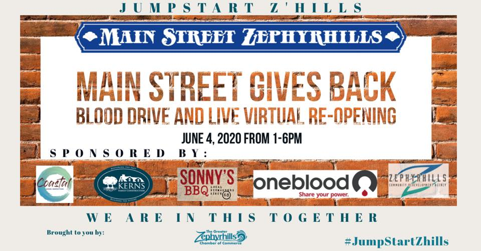 The Greater Zephyrhills Chamber of Commerce in partnership with Main Street Zephyrhills and the City of Zephyrhills is gearing up to give back.