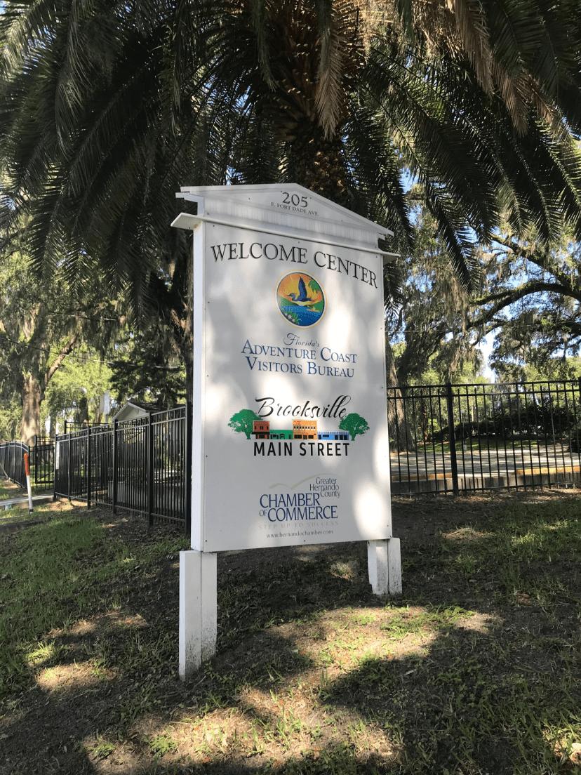 floridas adventure coast welcome center sign
