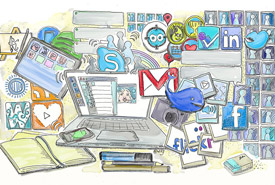 Social media networks (Illustration by Wilgengebroed, Wikimedia Commons)
