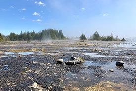 The misty, rocky, vast expanse of the Lake Huron shoreline. (Photo by NCC)