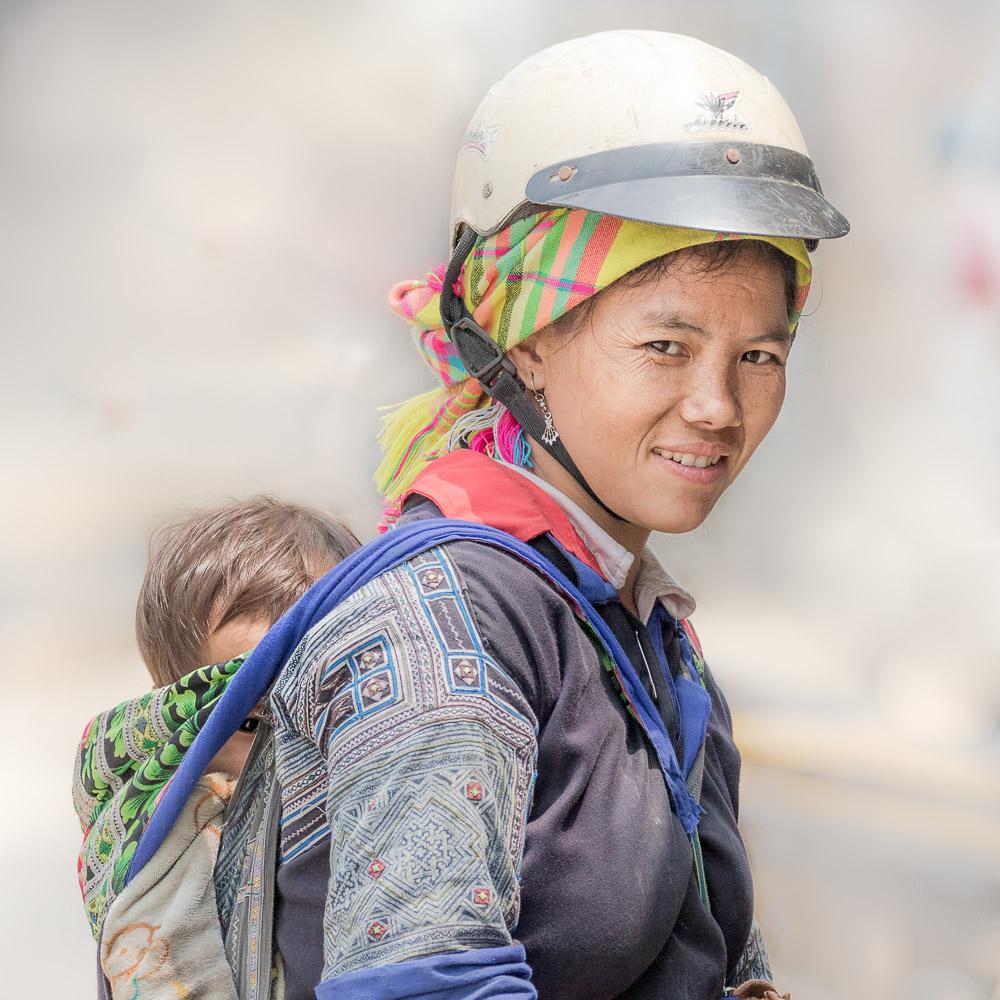 Nord Vietnam. Ethnie Mhong