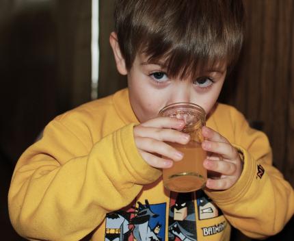 Drinking Homemade Soda