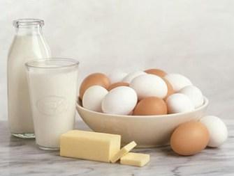 milk and eggs