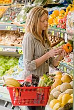 shopping for fruits and veggies