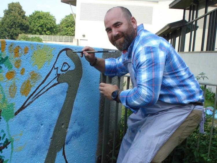 Jacob Tisue, Executive Director of MSCR paints our crane