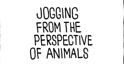 Jogging from the Perspective of Animals (Comic