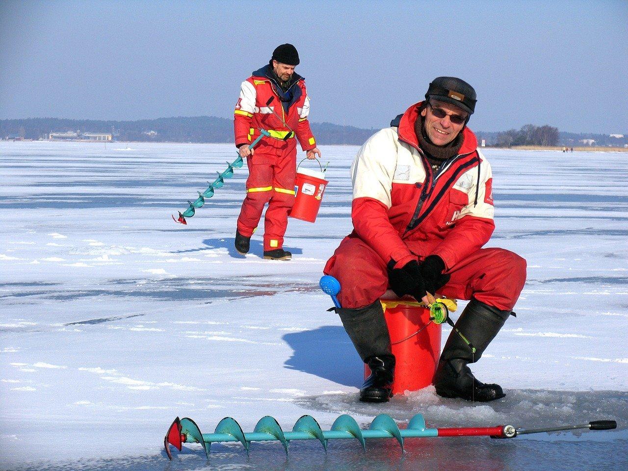 Black Striker Ice Climate Ice Fishing Winter Gloves