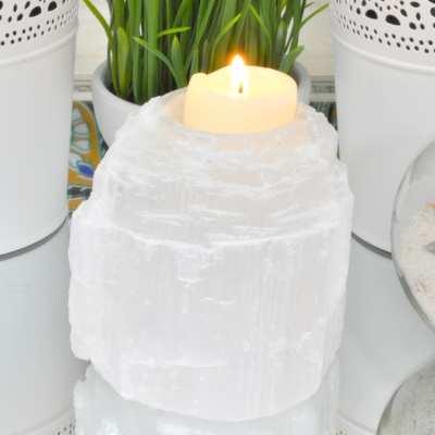 Selenite Candle Holders
