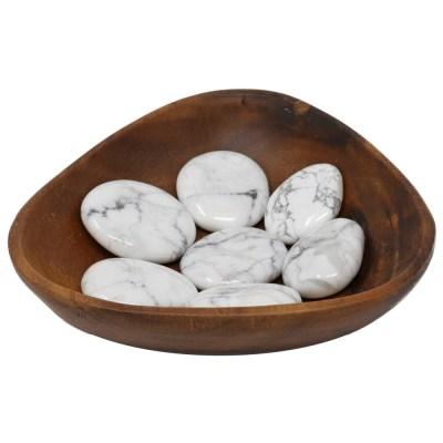 CPSHW - Palm Stone: Howlite White