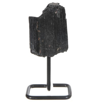 MMS201 - Small Black Tourmaline on Metal Stand